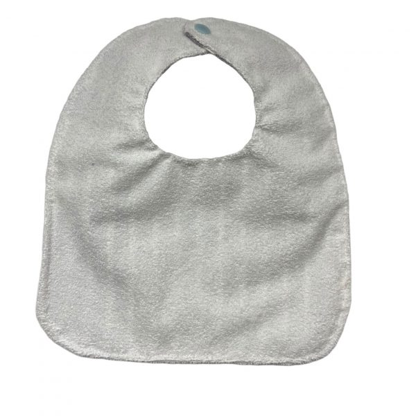 Babero de 0 meses rayas grises