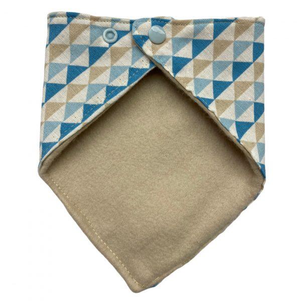 Bandana triángulos azules