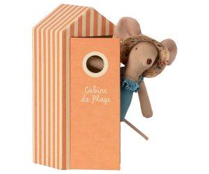 Mamá ratón en cabina de playa 2