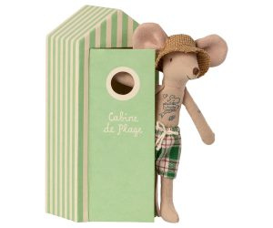 Papá ratón en cabina de playa 2