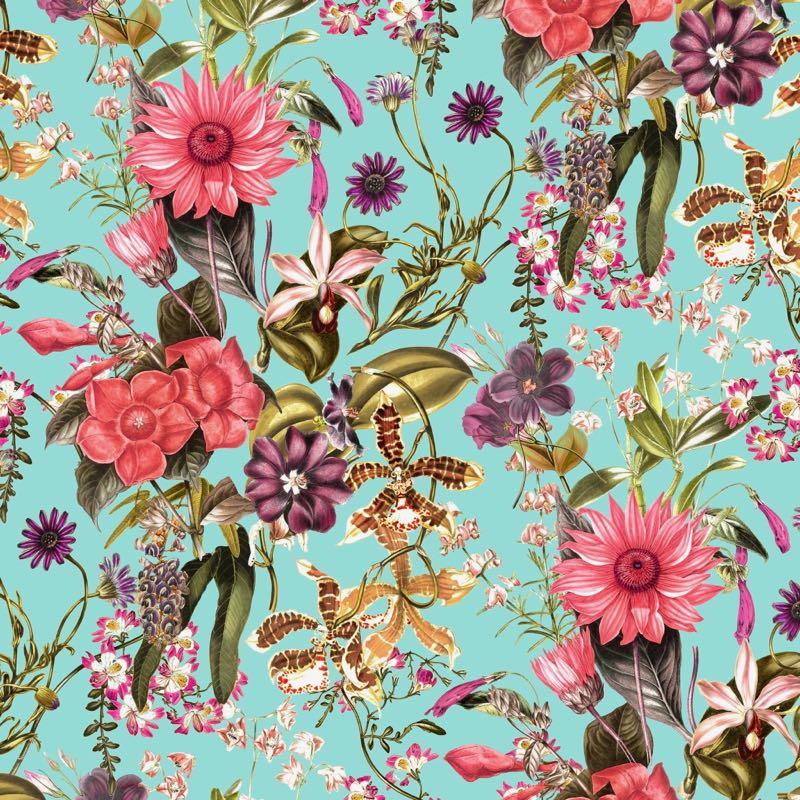 turquesa flores