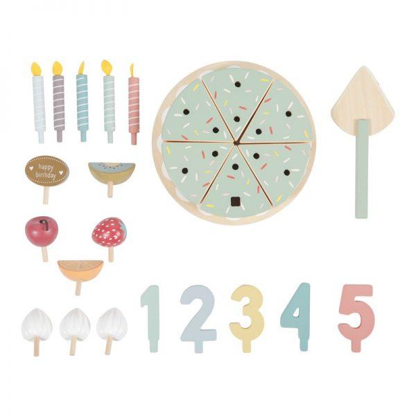 Pastel de cumpleaños de madera 1
