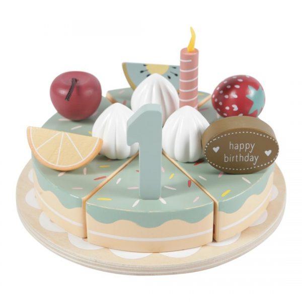 Pastel de cumpleaños de madera little dutch