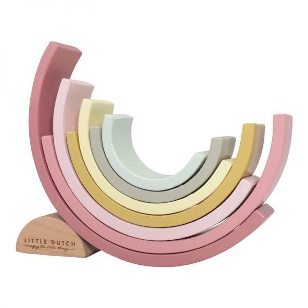 apilador arcoiris color rosa 3