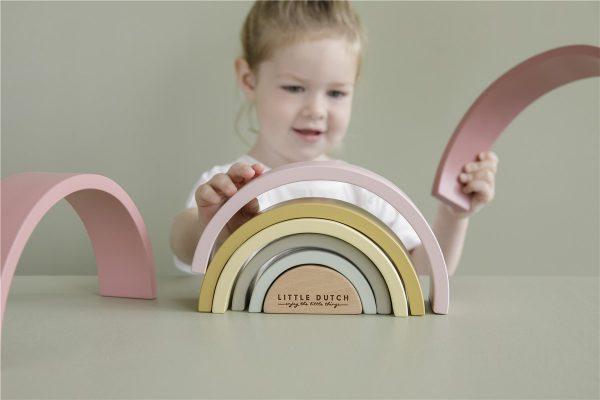 apilador arcoiris color rosa 4