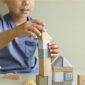 bloques de construccion de madera azul 1