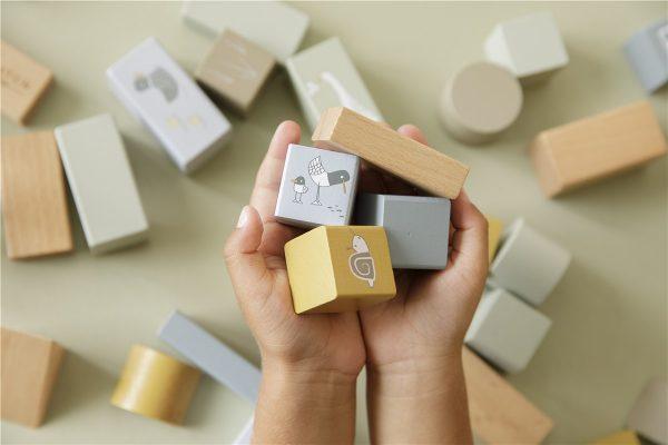 bloques de construccion de madera azul 2