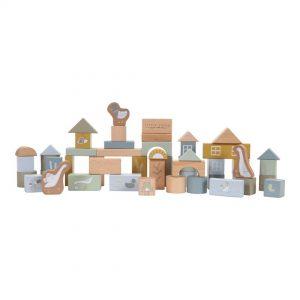 bloques de construccion de madera azul
