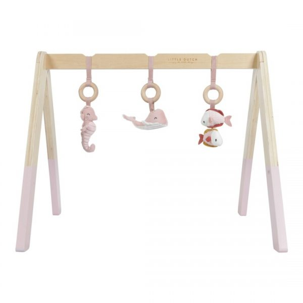 gimnasio para bebe rosa