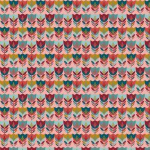 rosa tulipanes