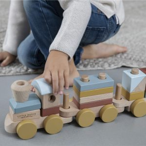 tren de madera little dutch pure 3