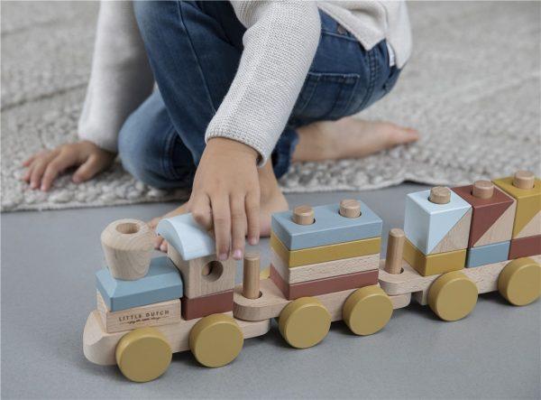 tren de madera little dutch pure 3
