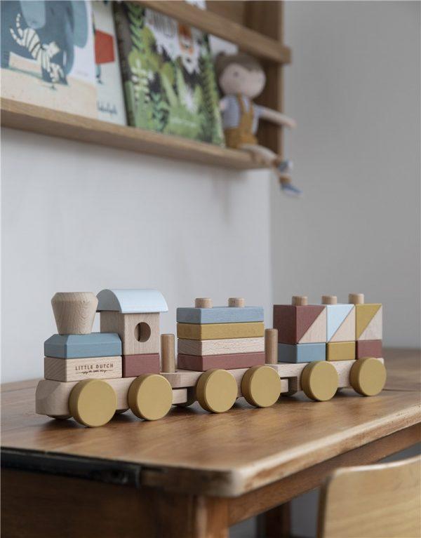 tren de madera little dutch pure 4