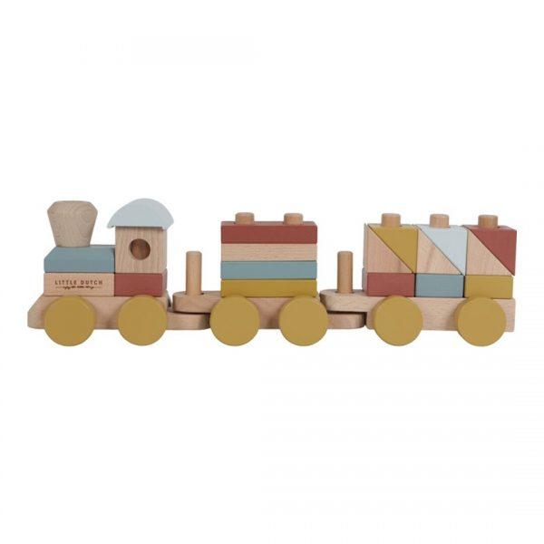 tren de madera little dutch pure