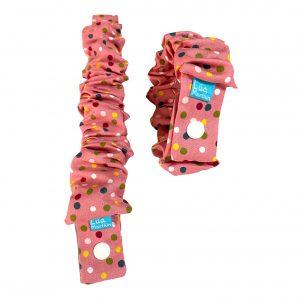 elastico de lactancia lunares rosa