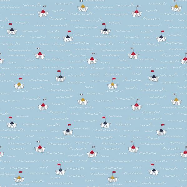 azul claro barquitos navegando