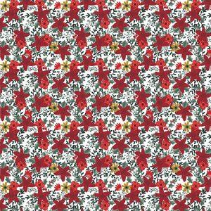 blanco navidad flores