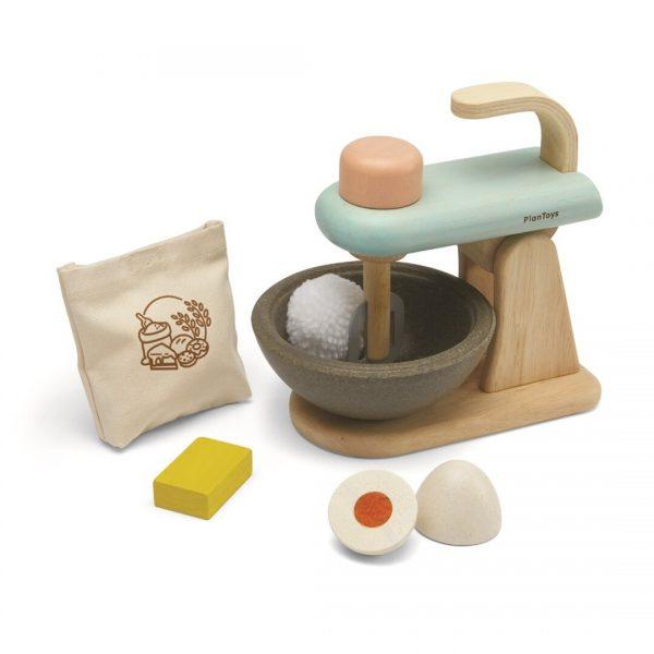batidora de madera de juguete